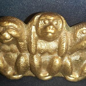 Three Wise Brass Monkeys